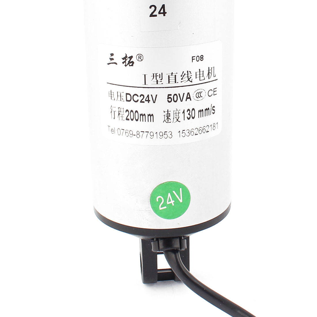 """DC 24V 8"""" Stroke Force 120N Electric Tubular Linear Actuator Motor 130mm/s - image 2 of 3"""