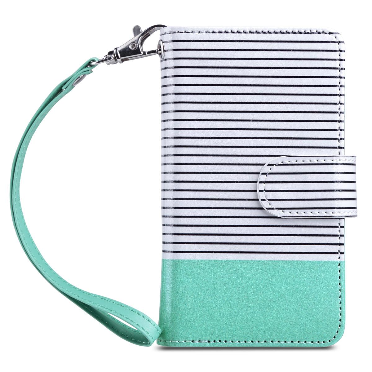 ULAK iPhone SE Case Wallet, Premium [Multi- Card Slots ] Magnetic Leather Hybrid Flip Wallet ...