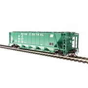 Broadway Limited 4093 HO Penn Central PRR Class H32 5-Bay Covered Hopper (2)