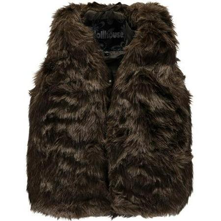 Chilli Pop Little Girls 4-6X Faux Fur Vest](Girls Fur Vest)