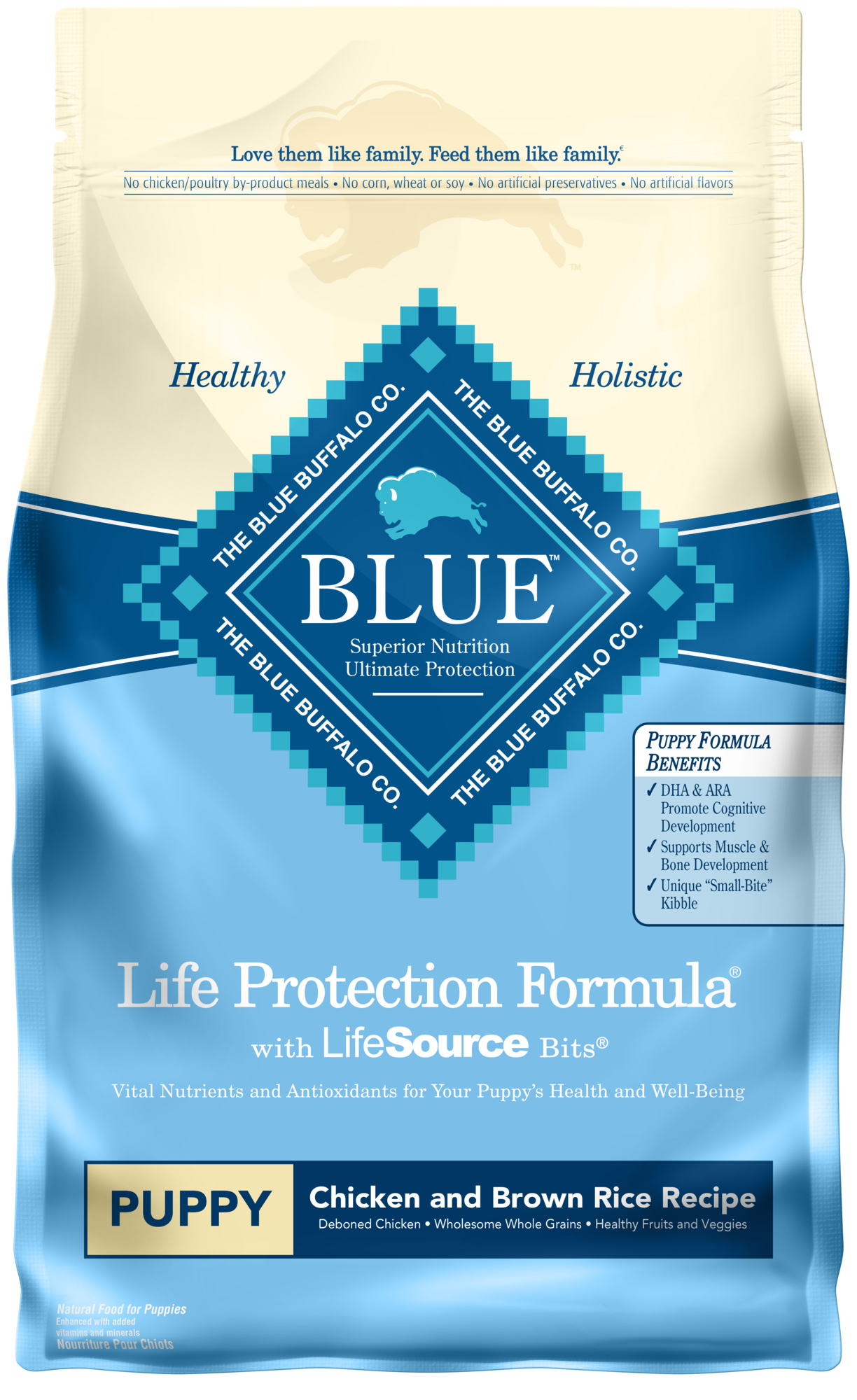 Blue Buffalo Life Protection Formula All Breeds Puppies Dry Dog Food, Chicken and Brown Rice Recipe, 30-lb by Blue Buffalo