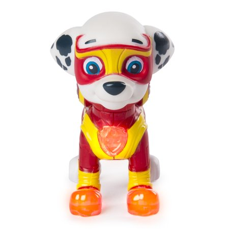 PAW Patrol - Mighty Pups Marshall Figure with Light-up Badge and Paws, for Ages 3 and Up, Wal-Mart Exclusive