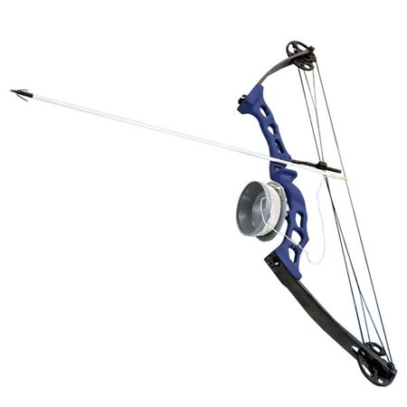 Bowfishing Blue Adult Compound Bow Archery Complete Set, Reel + Arrow](Bow And Arrow Set For Adults)