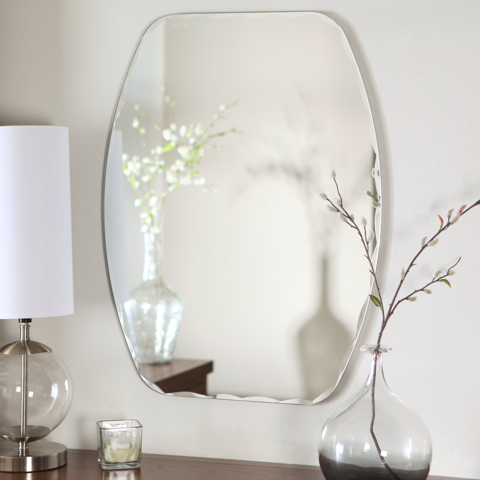 Décor Wonderland Frameless Freddie Wall Mirror - 23.5W x 32.5H in.