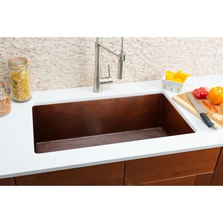 Copper Medium Single Bowl Sink
