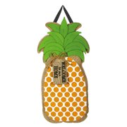 Evergreen Enterprises, Inc Beau Pineapple Greeting Polyester 1'10 x 11 ft Door Hanger