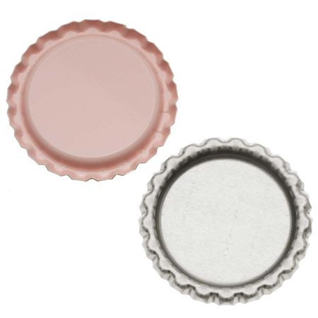 New Light Pink Flat Crown Bottle Caps Craft Scrapbook Jewelry No Liners (50)