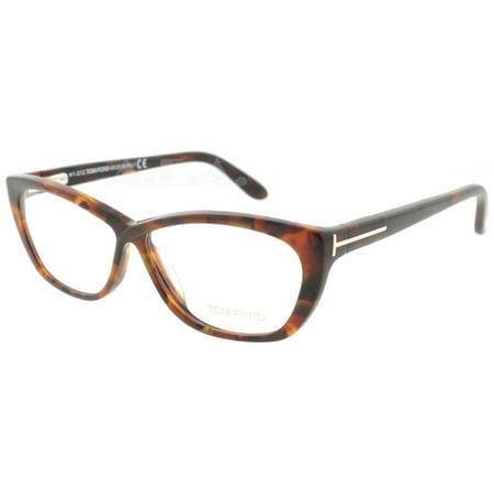 0446545547 Tom Ford TF 5227 052 54mm Havana Brown Womens Cat-Eye Eyeglasses -  Walmart.com
