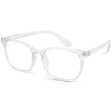Gamma Ray Blue Light Blocking Glasses - Amber Tint Lens Reduces Eye Strain UV Glare and Fatigue from Digital Screens - None Magnification Computer Gaming (Reducing Glass Lens)