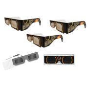 Solar Eclipse Glasses - 3 Pairs Sleeved - SOLAR FIRE - ISO Certified, CE Approved- - Solar Shades