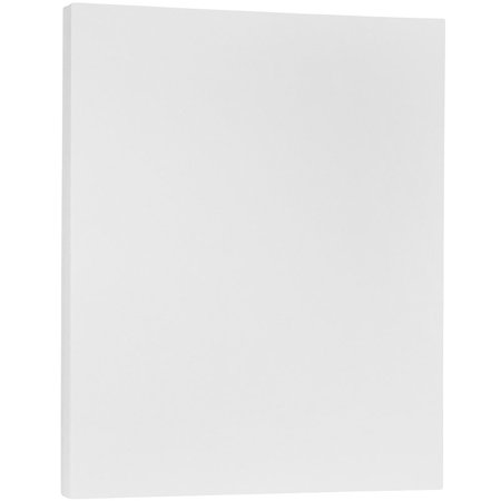 JAM Paper Translucent Vellum Cover, 8 1/2 x 11 Cardstock, 36 lb Clear, 50 Sheets/Pack