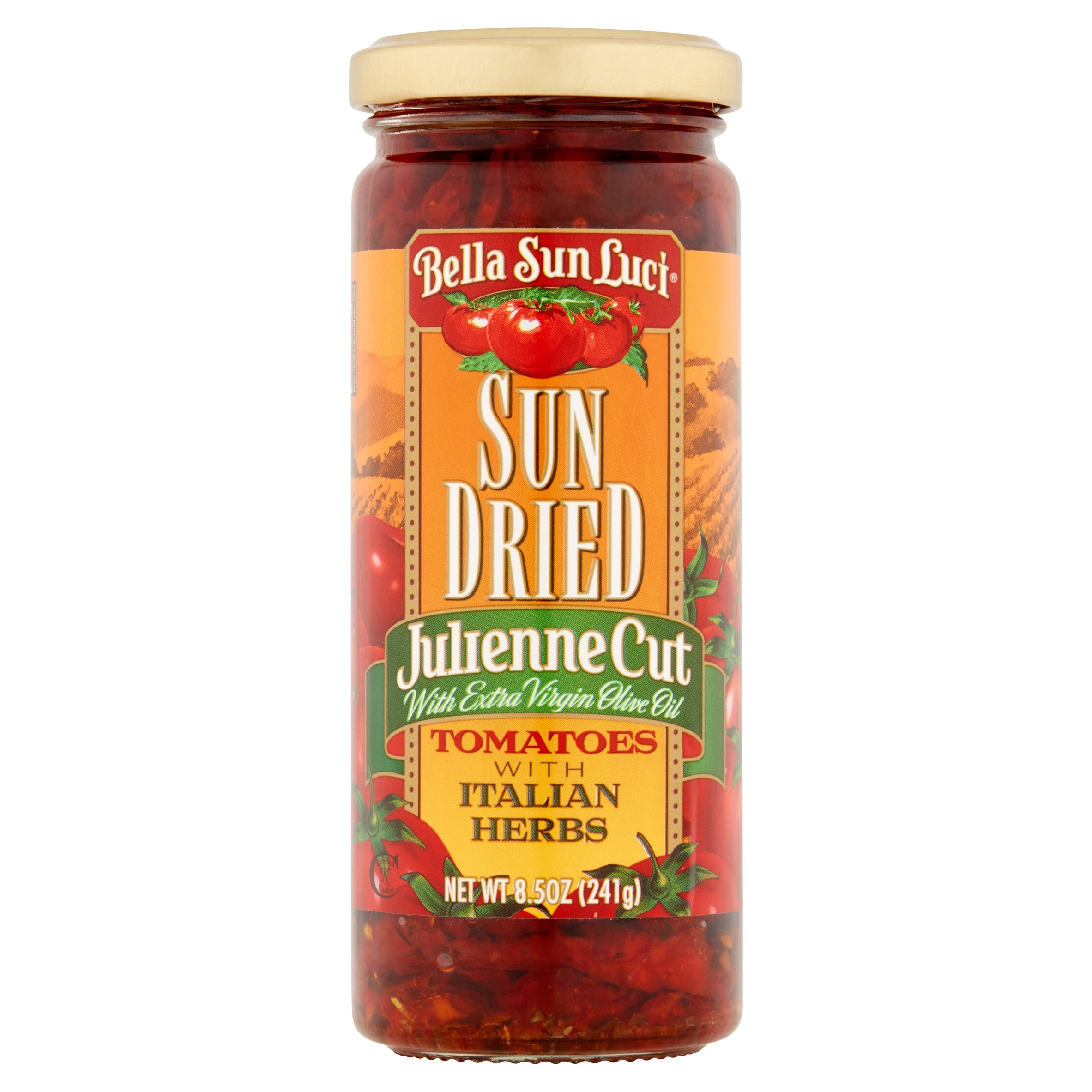 Bella Sun Luci Julienne Cut Sun Dried Tomatoes with Italian Herbs, 8.5 oz