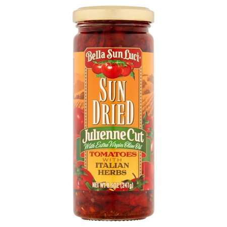 (2 Pack) Bella Sun Luci Julienne Cut Sun Dried Tomatoes with Italian Herbs, 8.5 (Best Tomatoes For Drying)