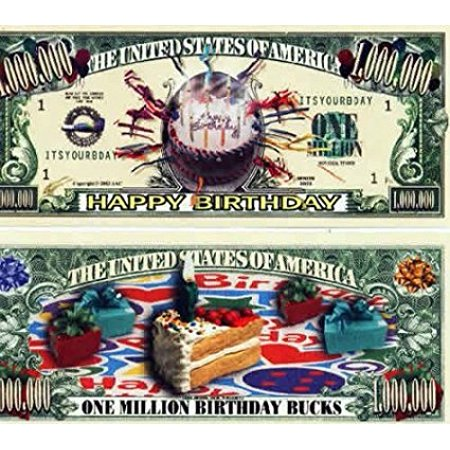 Set of 10 Bills-One Million Birthday Bucks, By Novelties - Wholesale Novelties