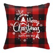 Merry Christmas Cotton Winter Deer Pillow Covers Christmas Decor Throw Pillow Covers Cushion Cover 20 X 20 Style D