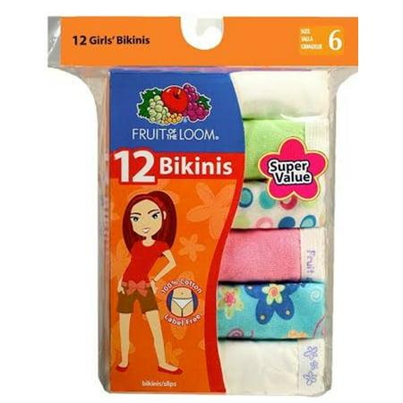 Little Girls' Wardrobe Cotton Bikini (Pack of 12),Size