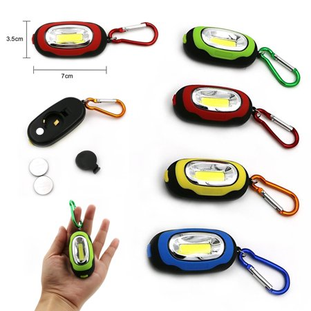 12 Portable Flashlight Key Ring Carabiners LED Keychain Camping Light Hiking New