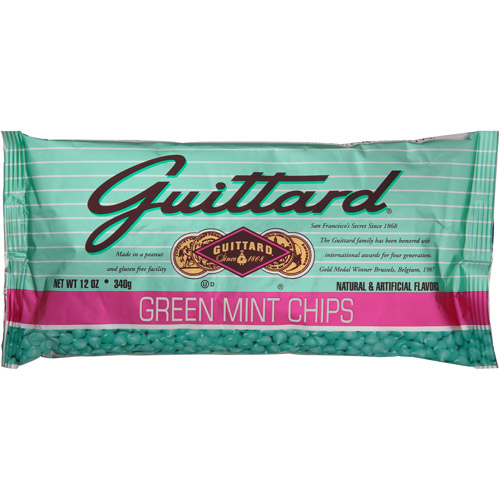 Guittard Green Mint Chips, 12 oz, (Pack of 12)
