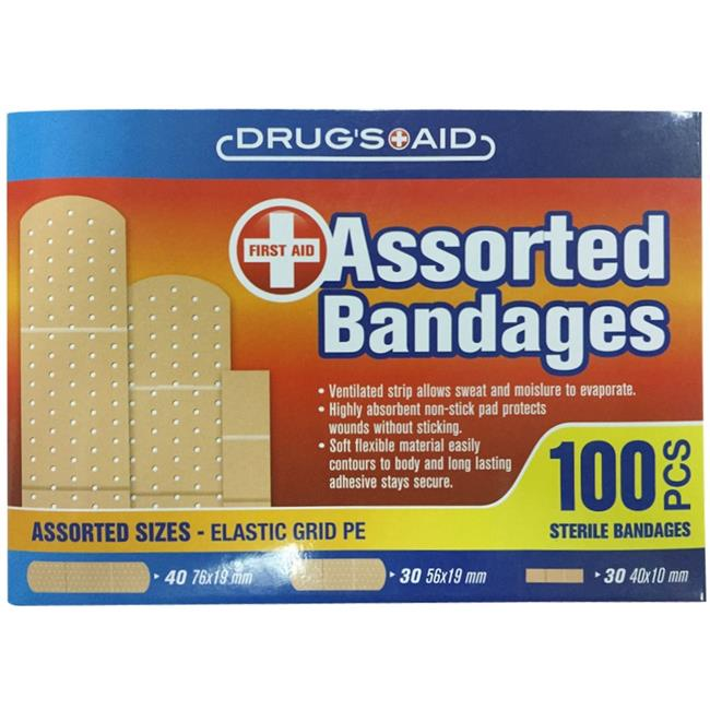 DDI 2316255 Assorted Bandages - 100 Count - Case of 48