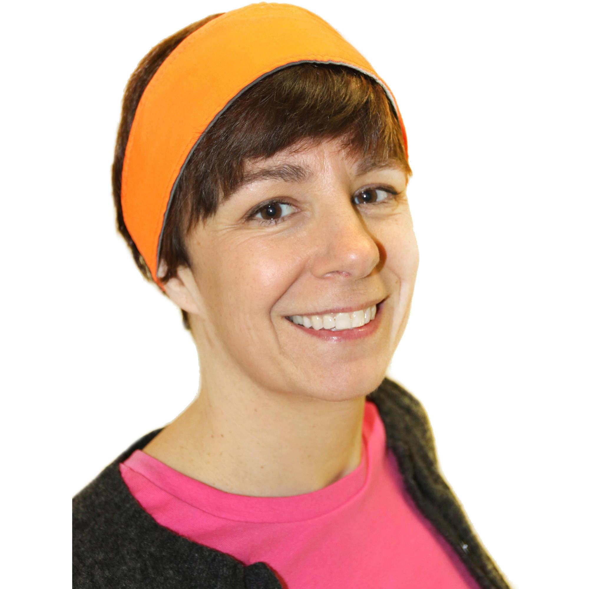 NFZ Reversible Headband, Blaze Orange