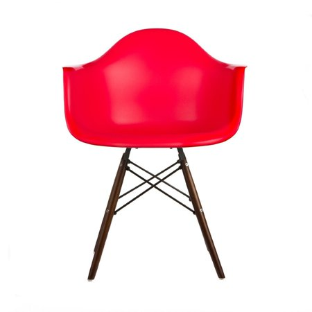 Peachy Red Modern Style Armchair With Walnut Wood Legs Eiffel Dining Room Chair Lounge Chair Arm Chair Arms Chairs Seats Wooden Wood Leg Wire Leg Dowel Spiritservingveterans Wood Chair Design Ideas Spiritservingveteransorg