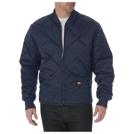 Dickies Mens Diamond Quilted Nylon Jacket, Dark Navy - M