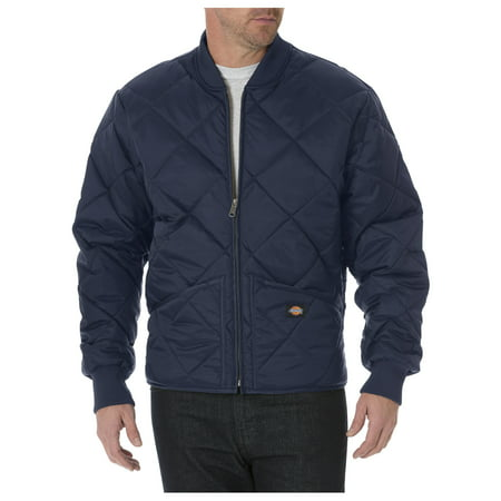 Dickies Mens Diamond Quilted Nylon Jacket, Dark Navy - XXL