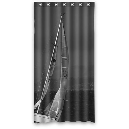 XDDJA Boat Sail Away Sea Beach Wave Shower Curtain Waterproof Polyester Fabric Shower Curtain Size 36x72 inches - image 1 de 1
