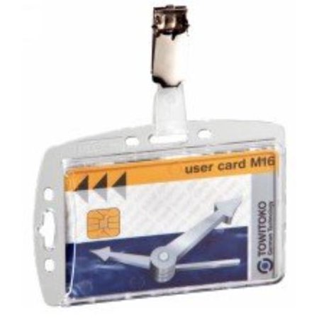 Security Pass Holder - Durable Acrylic Security Pass Holders, Box of 25