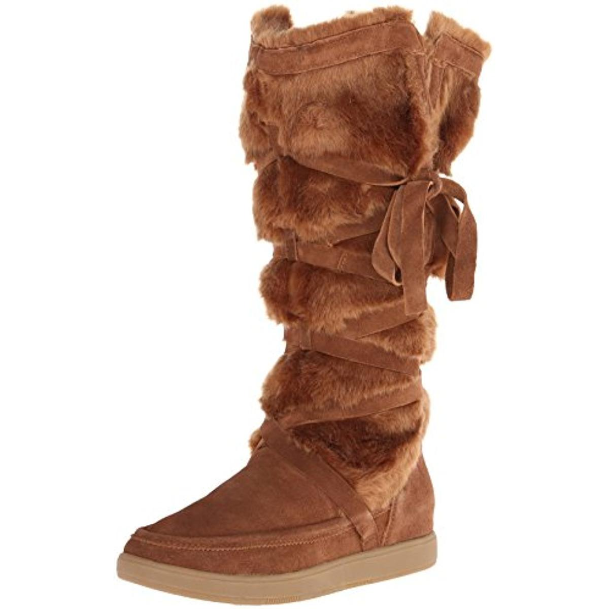 Report Signature Womens Lorrian Faux Fur Mid-Calf Snow Boots by Report Signature