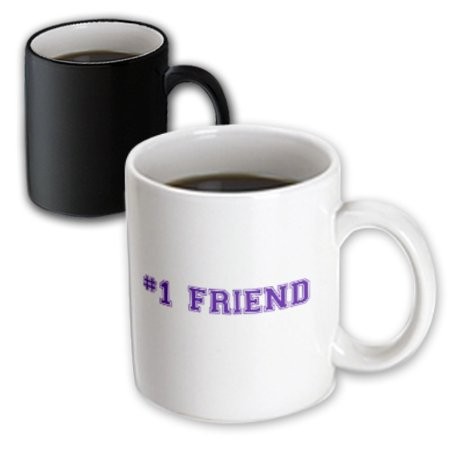 3dRose #1 Friend - Number One Friend for worlds greatest and best friends - BFF friendship gifts - Magic Transforming Mug, (Small Gifts For Best Friend)