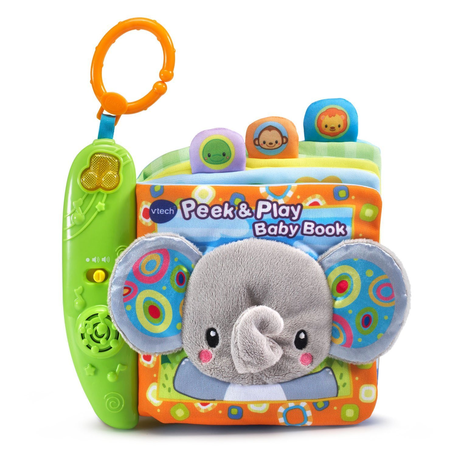 Peek & Play Baby Book Toy, The Peek and Play Baby Book by VTech is a real page turner; 6 soft, interactive book pages introduce animals through.., By VTech