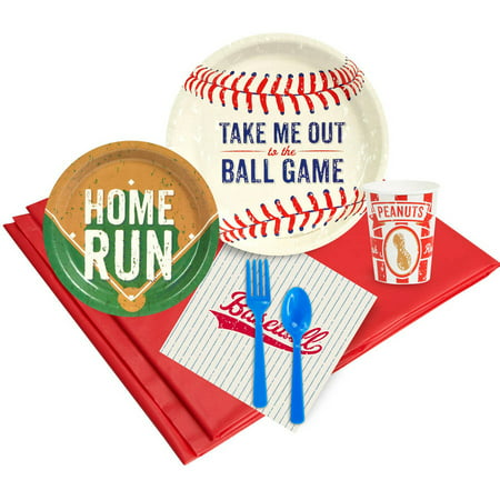 Baseball Time 16-Guest Party Pack (Baseball Supplies)