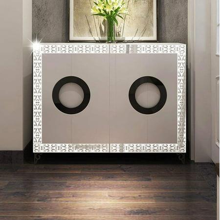 10pcs DIY Modern Acrylic Plastic Mirror Sticker Ar-hall