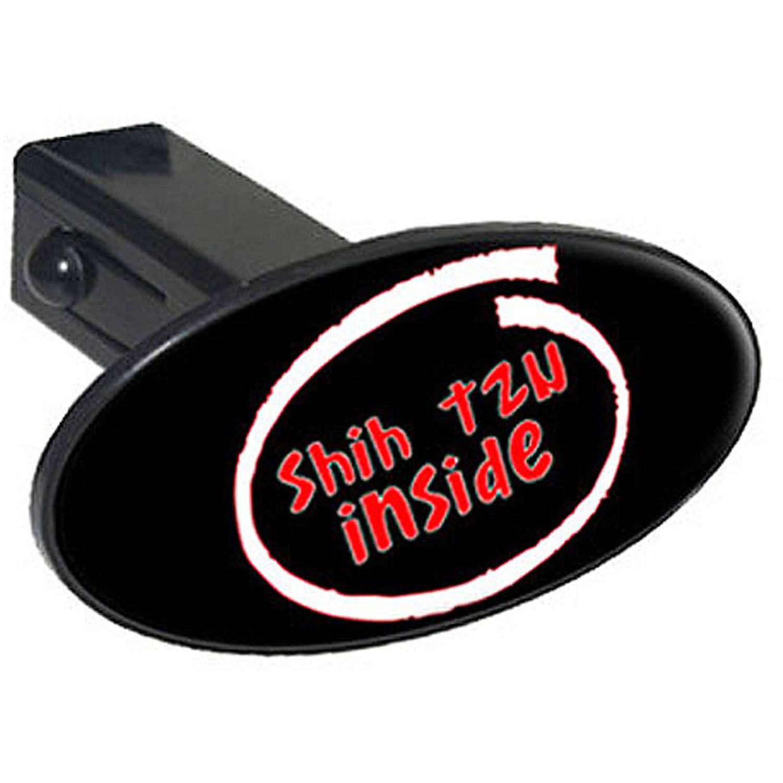 "Shih Tzu Inside 1.25"" Oval Tow Trailer Hitch Cover Plug Insert"