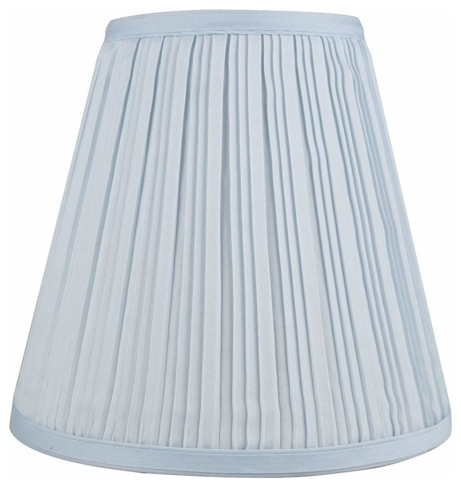 Urbanest Empire Lamp Shade 5x9x8 5 Baby Blue Pleated Faux Silk