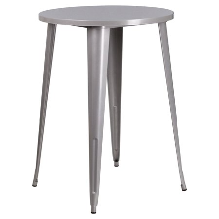 Flash Furniture 30 Round Metal Indoor-Outdoor Bar Height Table, Multiple Colors