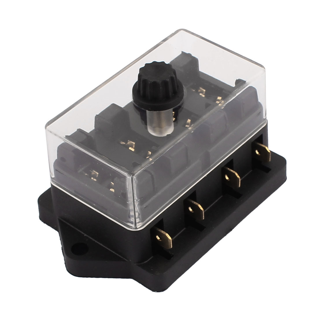 32V 4 Way Lateral Fuse Box Circuit Standard Blade Holder Block Car Truck