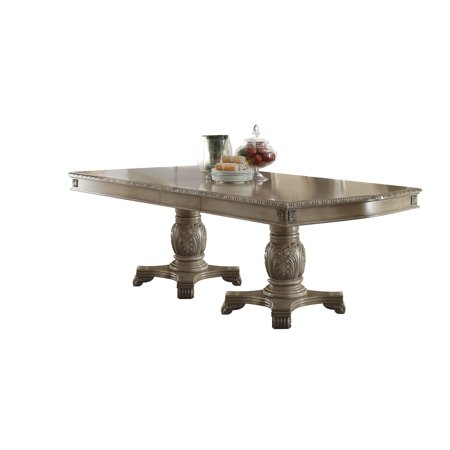 - ACME Chateau De Ville Dining Table with Double Pedestal, Cherry (Chairs Separately)