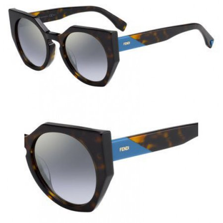 90f3d108fc FENDI - FENDI FF 0151/S 0086 Dark Havana Cat Eye Sunglasses - Walmart.com