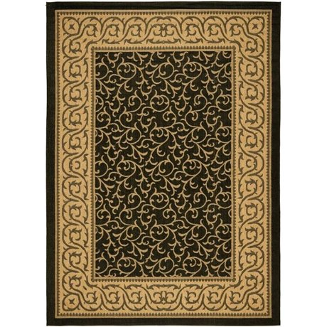 Safavieh Courtyard Black Indoor Outdoor Rug Runner 2 4