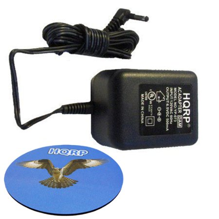 HQRP AC Adapter / Power Supply compatible with Panasonic KX-TG9391 KX-TG9391T KX-TG9392 KX-TGA101 KX-TGA106 KX-TGA106M KX-TGA401 KX-TGA401B Cordless Phone plus HQRP Coaster