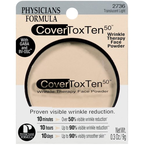 Cover Tox Ten 50 Wrinkle Therapy Face Powder, Translucent Light 2736