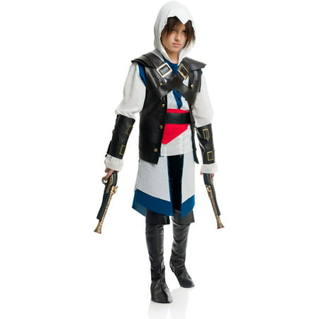 Boys Colonial Assassin Hooded Shirt With Vest Costume for $<!---->