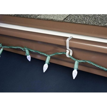 40ct Outdoor Gutter Hooks for Hanging Christmas Lights - 40ct Outdoor Gutter Hooks For Hanging Christmas Lights - Walmart.com