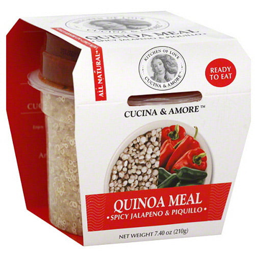 Cucina & Amore Spicy Jalapeno & Roasted Peppers Quinoa Meal, 7.9 oz, (Pack of 6) by