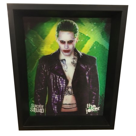 Suicide Squad Joker Lenticular Wall Art Home Decoration Theater Media Room Man Cave](Joker Decorations)