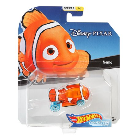 2019 Hot Wheels Disney Pixar Character Cars Nemo 1/64 Diecast Model Toy Car
