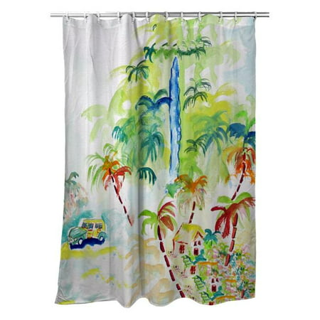 Betsy Drake SH821 70 x 72 in. Colorful Palms Shower Curtain - image 1 of 1