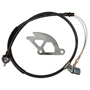 BBK PERFORMANCE 1505 79-95 FORD MUSTANG ADJUSTABLE CLUTCH CABLE & ALUMINUM QUADRANT KIT